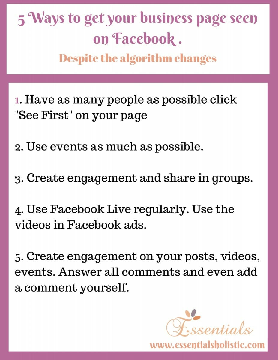 5 ways to stay visible on Facebook.